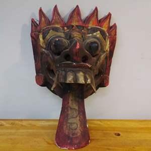 Lot #EL132 - Old Wood Mask 'Masquerqade'
