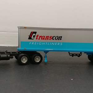 Lot#72 - First Gear #19-1750 '53 Kenworth Bull Nose Coe Tractor w/ 35' Trailer * Transcon Freight Lines * 1:34