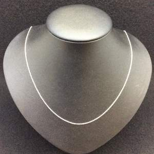 """Lot 6- Vintage Sterling Silver 18"""" Cable Chain for Pendants"""