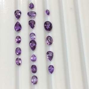 Lot 19- 10.1ctw Genuine Amethyst Assorted Faceted Cut Gemstones for Jewelry Making