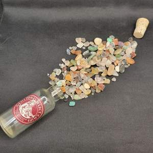 Lot 20- Vial of Assorted Select Gemstone Chips from around the World, Bottled in Italy