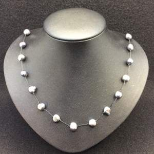 """Lot 21- Vintage Dyed Pearl 18"""" Knotted Strand Necklace"""