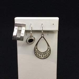 Lot 24- Three Vintage Sterling Silver Single Earrings