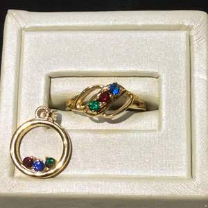 Lot 30- Salesman's Sample Ring size 5.5 and Pendant