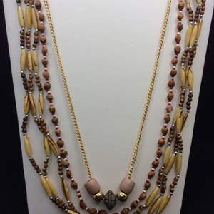 Lot 44 - Trio of WOOD Beaded Necklaces and Ornaments.