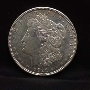 Lot 51 - 1921D Morgan SILVER Dollar