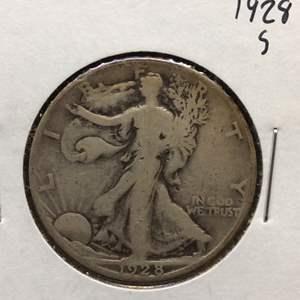 Lot 58 - 1928S SILVER Walking Liberty Half Dollar
