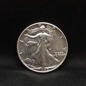 Lot 60 - 1942 SILVER Walking Liberty Half Dollar