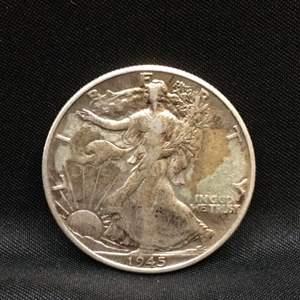 Lot 61 - 1945 SILVER Walking Liberty Half Dollar