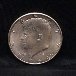 Lot 63 - 1964 UNC SILVER Kennedy Half-Dollar
