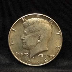 Lot 64 - 1968D UNC SILVER Kennedy Half-Dollar