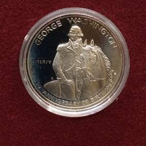 Lot 65 - 1982 SILVER George Washington 250 year Commemorative Half Dollar Proof