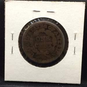 Lot 90- 1847 US Large Cent