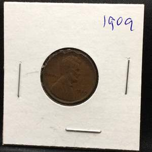 Lot 91- 1909 FIRST YEAR OF ISSUE Lincoln Wheat Cent
