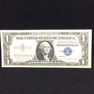 Lot 113 - 1957A One Dollar United States Silver Certificate Currency Note, Blue Seal, UNC