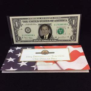 Lot 115 - 2004 Presidential Election Geo Bush Election One Dollar over UNC 2003 United States One Dollar Federal Reserve Note