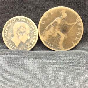 Lot 121 - 1878 and 1897 Spanish and British Coins