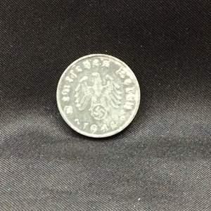 Lot 122 - 1941 German Reich Ten Pfennig Coin with Swastika Emblem