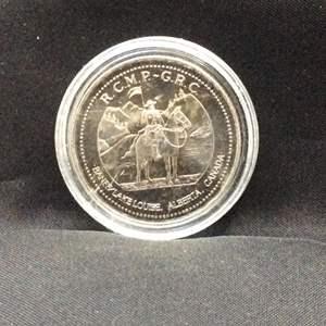 Lot 125 - 1991 Alberta Canada $1 Token Commemorating Banff National Park and Lake Louise