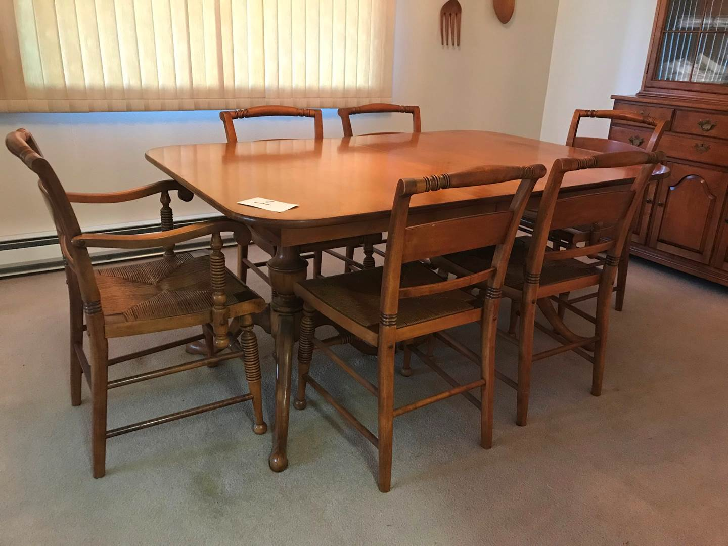 Office Cabin Interior Design, Lot 1 Vintage 1950 S Maple Thomasville Dining Table W 3 12 Leaves 6 Chairs 2 Sets Of Pads Puget Sound Estate Auctions