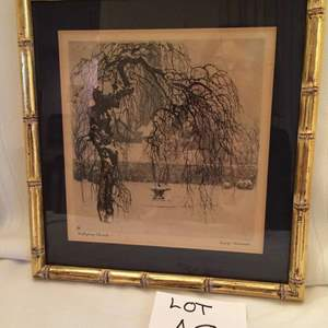 Auction Thumbnail for: Lot# 48 Etching by Louigi, signed, framed, early 20th century