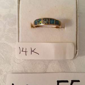 Auction Thumbnail for: Lot# 55 - 14K opal ring, size 7.5