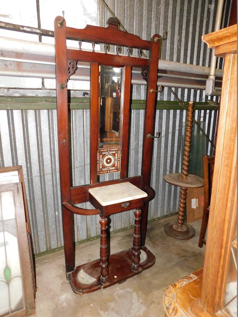 Lot 7 Antique Hall Tree Auction By Sac Valley Auctions