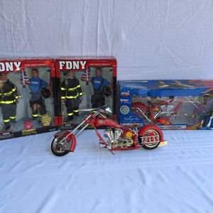 Auction Thumbnail for: Lot 7 - FDNY Choppers and Firemen