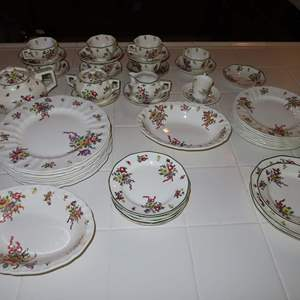 Auction Thumbnail for: Lot 13 - Antique Royal Doulton China Set - All 'Old Leeds Sprays' Pattern