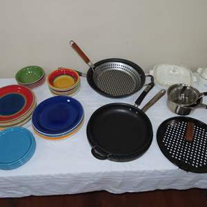 Auction Thumbnail for: Lot 44 - Quality Cookware, and Royal Norfolk Dishes