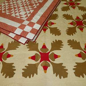Auction Thumbnail for: Lot 8 - Pair of Hand Made Quilts