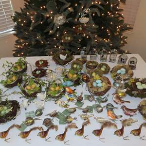 Auction Thumbnail for: Lot 71 - Bird Ornaments and Tree Decorations