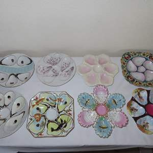 Auction Thumbnail for: Lot 118 - 8 Antique Oyster Plates
