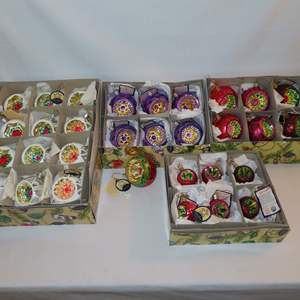 Auction Thumbnail for: Lot 147 - Inge-Glas Ornaments from Germany, with Tags