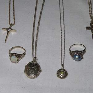 Auction Thumbnail for: Lot 178 - Sterling Silver Necklaces and Rings