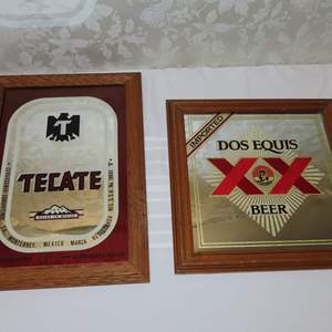 Auction Thumbnail for: Lot 1 - Pair of Beer Mirror Signs - from Mexico