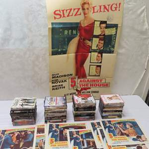 Auction Thumbnail for: Lot 26 - DVD Collection, Plus 1950's Movie Poster and Billings