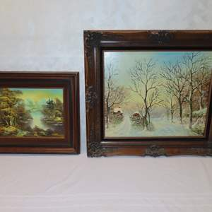 Auction Thumbnail for: Lot 50 - Pair of Original Oil Paintings