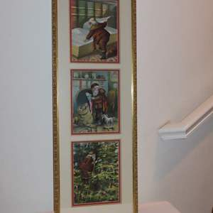 Auction Thumbnail for: Lot 136 - Framed 1890 Chromolithograph 'Twas the Night before Christmas'