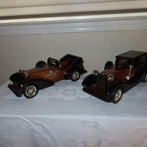 Auction Thumbnail for: Lot 3 - Pair of Wooden Classic Cars