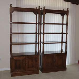 Auction Thumbnail for: Lot 100 - Pair of Matching Display Shelves by Ethan Allen