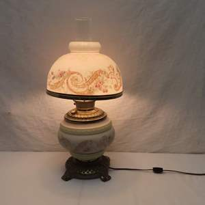 Auction Thumbnail for: Lot 20 - Antique Oil Lamp - Converted to Electric