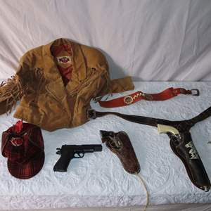 Auction Thumbnail for: Lot 5 - Vintage Toy Guns, Leather Jacket and More