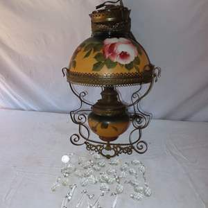 Auction Thumbnail for: Lot 48 - Antique Victorian Hanging Lamp