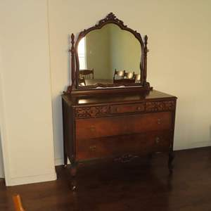Auction Thumbnail for: Lot 36 - Antique Walnut Dresser - by the Mount Airy Furniture Co