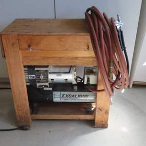 Auction Thumbnail for: Lot 88 - Mini Air Compressor Setup with Extras - Works