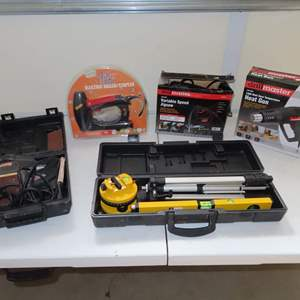 Auction Thumbnail for: Lot 94 - Power Tools and Laser Level with Transit