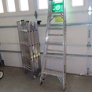 Auction Thumbnail for: Lot 110 - Step Ladder and Multi-Use Ladder