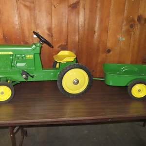 Auction Thumbnail for: Lot 14 - John Deere Pedal Tractor with Trailer