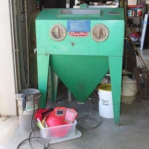 Auction Thumbnail for: Lot 95 - Dayton Industrial Sandblast Cabinet, Plus Sandblaster